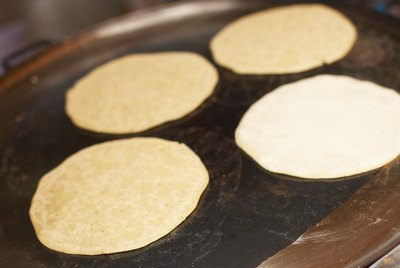 Tortillas cooking