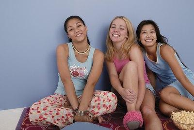 Teenage girls at sleepover