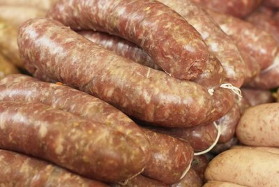 Selection of sausages