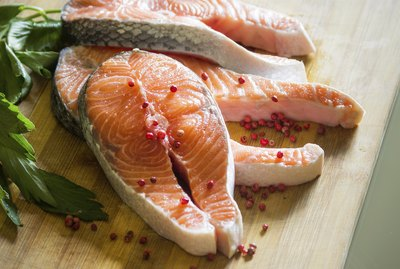 salmon and pepper