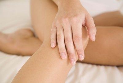 Hand on knee