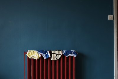 under pants on radiator