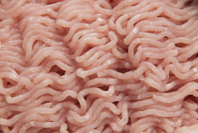 Raw hamburger texture