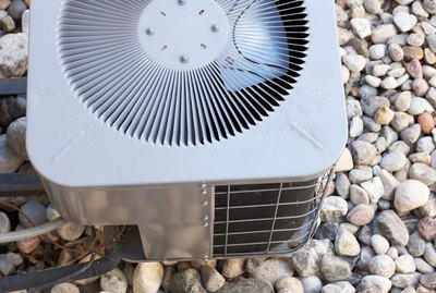 High angle view of air conditioning unit