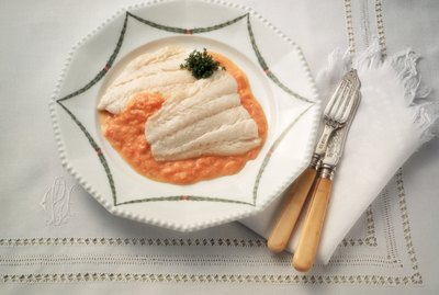 Cod Fillet in Red Sauce