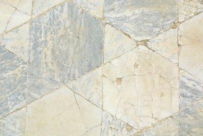 Faded floor tiles