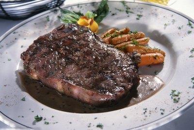Porterhouse steak on a plate