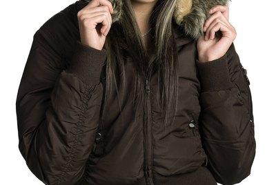 Woman posing in winter jacket