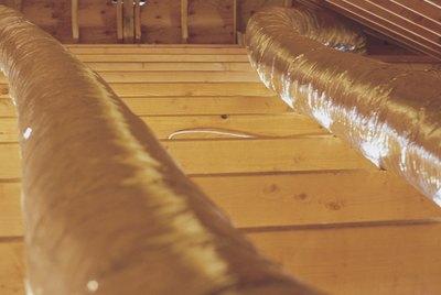 HVAC system in attic