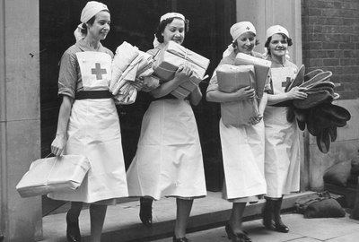 Nurses With Parcels
