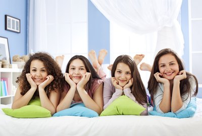 Smiling Friends on a Slumber Party
