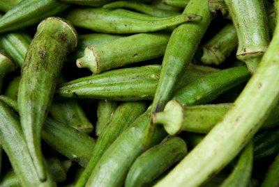 Close-up of okra