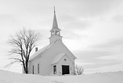 Quaint church in winter