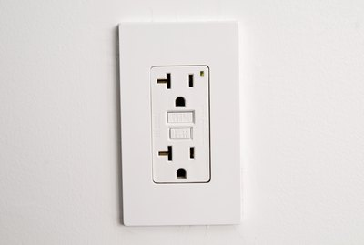 Electrical outlet in wall