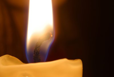Burning candle close-up