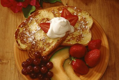 Gourmet French toast with fruit