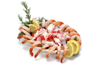 Shrimp cocktail with imitation crab meat