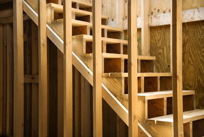 Staircase in home under construction