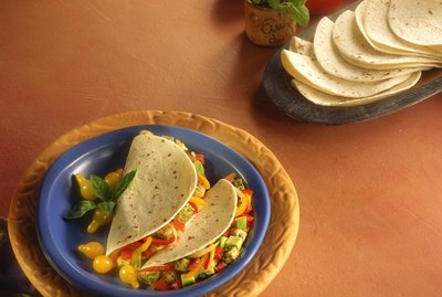 Soft shell seafood tacos