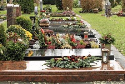 Friedhof, Grabreihe