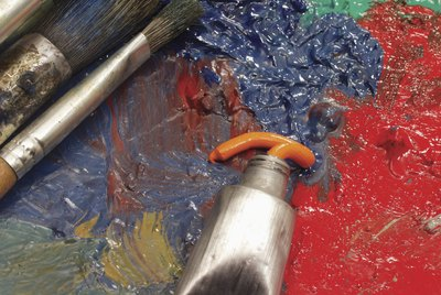 Paintbrush and tube of paint