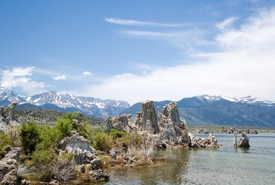 Mono Lake and the Sierra Nevada mountains, California