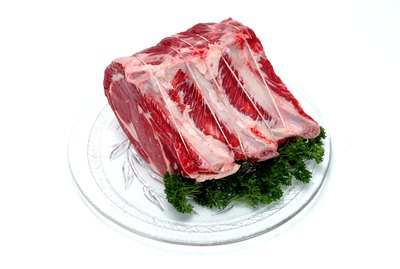 Plate of uncooked meat