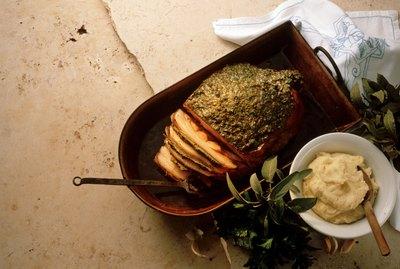 Pork Shoulder with Herb Crust