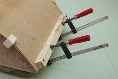 Clamps are used for gluing  workpiece