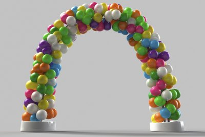 Rainbow color Balloon arch decoration