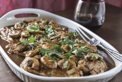 Chicken Marsala with wine