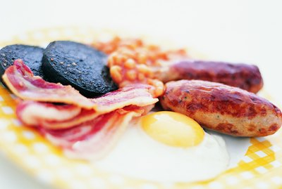 Plate With a Traditional English Breakfast