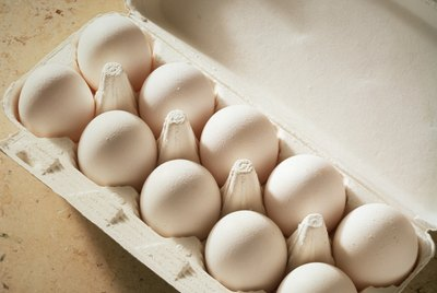 Fresh Eggs in an Egg Carton