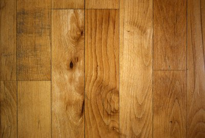 Knotted wood plank flooring
