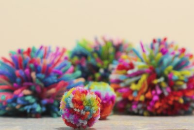 Home made pom-poms!