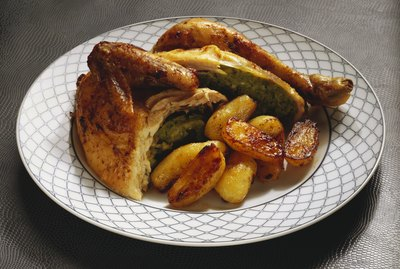 Roasted Chicken with Herb Stuffing