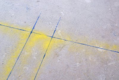 Concrete with lines and spraypaint