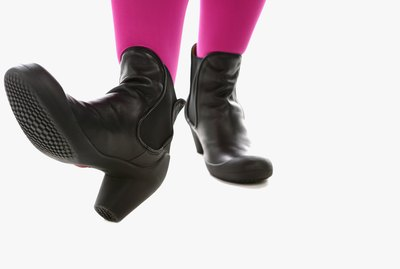Feet of woman wearing boots