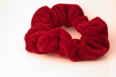 Red Velvet Hair Scrunchy