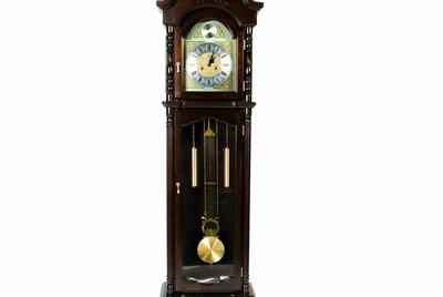 Close up of a grandfather clock