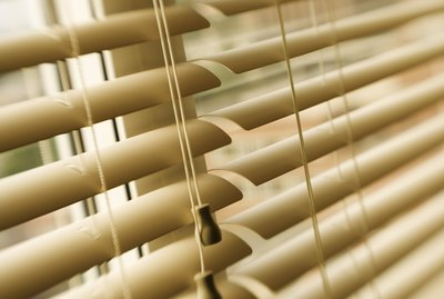 Close-up of window blinds