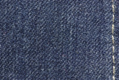 Seam on denim clothing