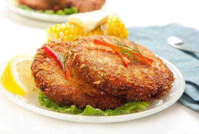 thai salmon fishcake on a plate