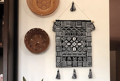 DIY Mud cloth-Inspired Wall Hanging