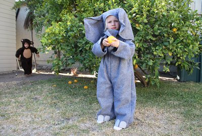 Sew this elephant costume for yourself or a child of any size!