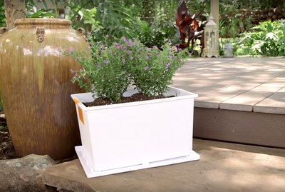 Storage containers into planters