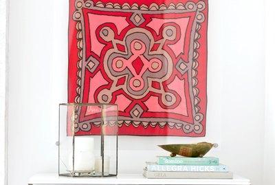 Framed lucite scarf