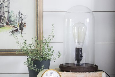 Industrial Wooden Lamp