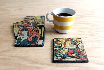 DIY decoupage slate coasters
