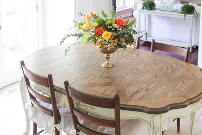 Refinished oak table